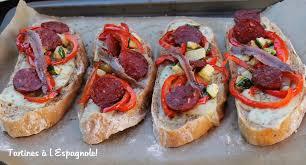 recette de cuisine en espagnol tartines à l espagnole la cuisine des p tites douceurs