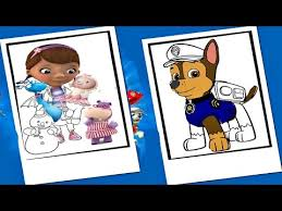 paw patrol pups doc mcstuffins coloring pages nick jr chase