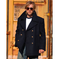 mens us navy pea coat ebay