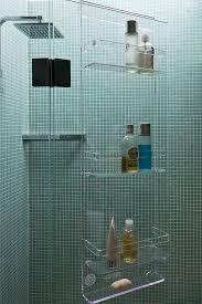 Bathroom Caddies Shower Acrylic Shower Caddy Contemporary Bathroom With Bathtub