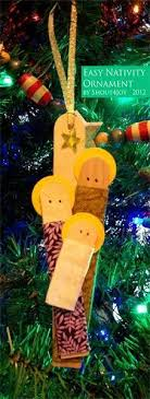 11 tree ornaments for children to make nativity