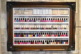 wooden ornate nail polish rack beauty u0026 make up display and