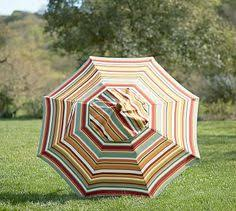 Pottery Barn Patio Umbrella by Rectangular Market Umbrella Giorgia Stripe Pottery Barn