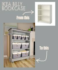 from ikea billy bookcase to rolling craft cart giveaway living and