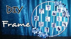 diy hula hoop photo frame tutorial wall hanging part1 home
