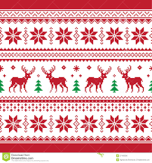 knitted christmas christmas and winter knitted seamless pattern or c stock