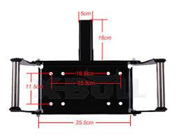 x bull winch cradle mount mounting plate bracket 4wd bull bar