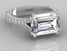horizontal emerald cut engagement ring horizontal emerald cut rings search bling bling