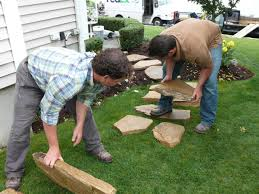 Flagstone Patio Installation Cost by Building A Stone Walkway How Tos Diy