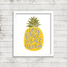 Pineapple Home Decor by You Had Me At Aloha Pineapple 8 X 10 Print Hand Lettered