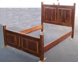 rustic wood bed frame hardware bed and shower rustic wood bed