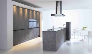 simple and modern minimalist kitchen design with concrete walls