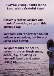thanksgiving prayer to god our festival collections
