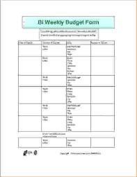 sample weekly budget bi weekly personal budget example template