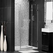 Industrial And Rustic Designs Resurfaced Impressive Small Bathroom Design For Shower Room With Black Mosaic