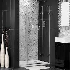 Shower Room Door by Fascinating Black Tile Bathroom Design With Glass Door Shower Room