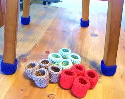 table leg floor protectors crochet chair socks floor protector table leg by highforestcrafts