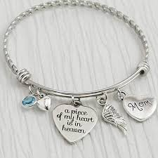 woman charm bracelet images Memorial jewelry a piece of my heart is in heaven jpg