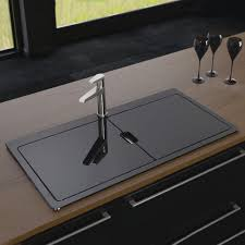 Black Glass Kitchen Sinks Black Stainless Steel Kitchen Sink Within Sinks Undermount Single