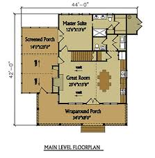 Cottage House Plans With Wrap Around Porch Small 2 Story 3 Bedroom Cabin With Wraparound Porch