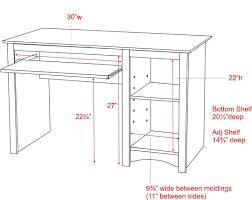 wood tray plans glider woodworking standard computer desk