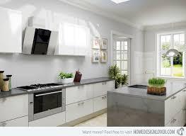 Shiny White Kitchen Cabinets Gloss White Kitchen Design Ideas Kitchen And Decor