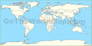 Blank Map Of Spain by Outline Blank Map Of World