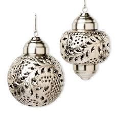 handmade silver moroccan lantern ornaments vivaterra