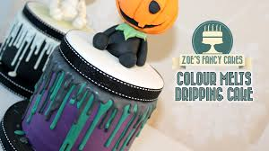 Halloween Cakes Decorations Dripping Cake Effect Using Colour Melts Renshaws Youtube