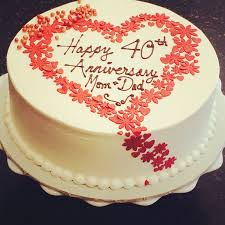 anniversary cake velvet ruby 40th anniversary cake newleafpastriescom cakepins