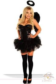 costume includes sequin underwire corset with side zipper closure