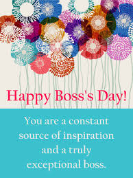 you are my inspiration happy boss u0027s day card birthday