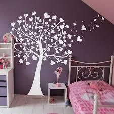 stickers arbre chambre fille sticker arbre à coeurs chambre bébé coeur chambres