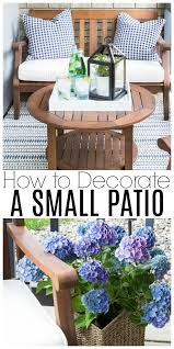 Decorate Small Patio Best 25 Small Patio Decorating Ideas On Pinterest Apartment