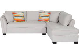 Sectional Sofas Rooms To Go by Cindy Crawford Home Calvin Heights Platinum 2 Pc Sectional