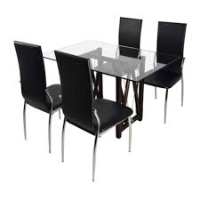 glass top dining table set 6 chairs stunning glass dining table set 6 chairs pictures best image