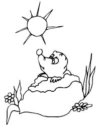 bluebonkers groundhog coloring sheets groundhog u0027s 9