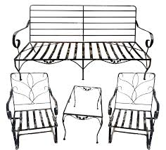 Wrought Iron Vintage Patio Furniture by Vintage Wrought Iron Outdoor Furniture Set Of 4 Chairish
