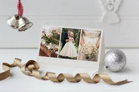 wedding thank you cards with a christmas cheer wedding