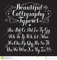 calligraphy font calligraphy font stock illustration illustration of collection