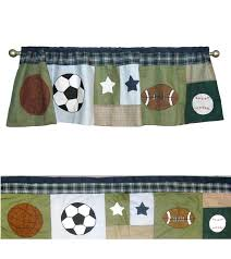Soccer Curtains Valance Impressive Soccer Curtains Valance Designs With Sports Collage