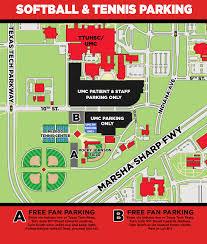 Texas Tech Campus Map Softball Parking Information Texas Tech University Texas Tech