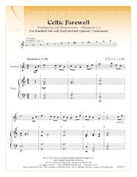 thanksgiving piano sheet music celtic farewell by linda r lamb j w pepper sheet music