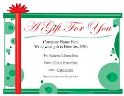 free printable gift certificate templates gameshacksfree