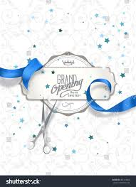 Invitation Cards Design With Ribbons Grand Opening Invitation Card Blue Silk Stock Vector 401374600