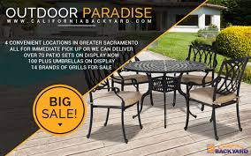 Backyard Brand Grills Tub Spa Patio Furniture Store Sacramento California