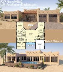 southwest style house plans plan 6793mg adobe style house plan with icf walls house large