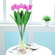 10 bouquet artificial tulip silk flowers home party decor us 7 83