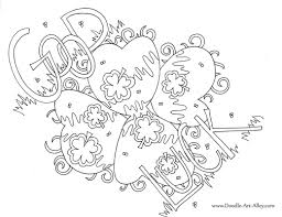 greeting card coloring pages doodle art alley