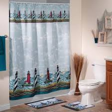 trend of lighthouse shower curtains and nautical fabric shower